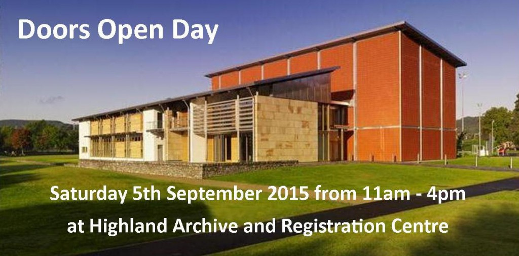Doors Open Day Sept 15
