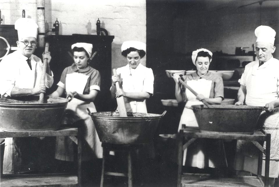 Christmas pudding Raigmore Hospital c1950