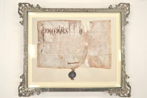 Tain Papal Bull Digital Copy in Frame
