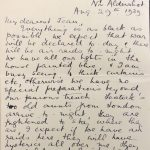 Letter to Jean from Betsey World War Two