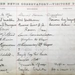 Ben Nevis Observatory Visitor Book 1885
