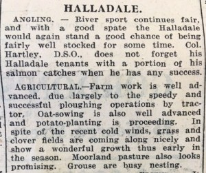 7 May JOG Halladale Report