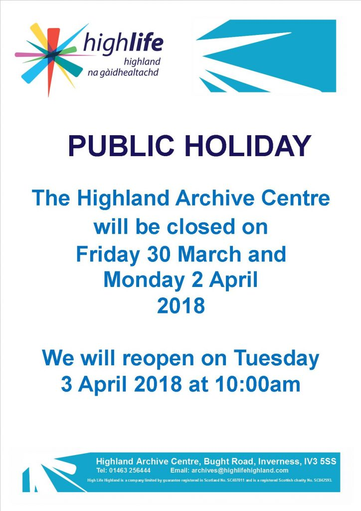 Archive Centre Easter closure