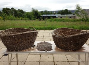 Baskets outside