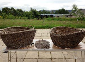 Baskets outside