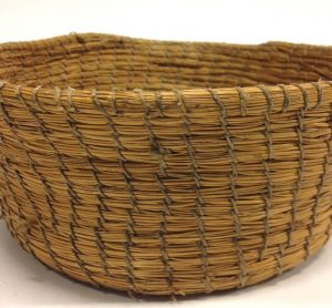 L - coiled marram grass basket, or ciosan, (KIGHF.QP.0003),