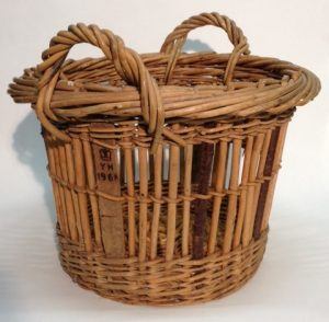 A quarter cran basket (KIGHF.2017.007) was used to measure catches of herring. Baskets that met the official quarter cran dimensions, as set by the government, were stamped with a crown, the initials of the inspector and year of inspection.
