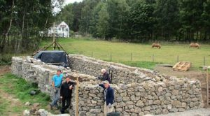 Re-erecting the Blackhouse at the Newtonmore museum site