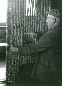 Weaving a saddle pad at Peninerine, South Uist, in 1953. Werner Kissling/School of Scottish Studies, taken from Flora Celtica (Milliken and Bridgewater, 2006)