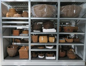 The basketry collection after documentation, conservation and re-storage.