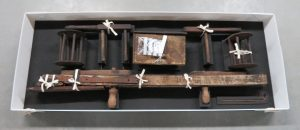 A custom box was created so that the separate elements of the winder could be stored together.