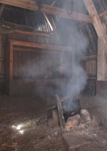 The hearth inside the Cottar's House