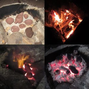 Different stages of the firing