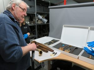 Showing Bill our collection and hearing his thoughts on the objects