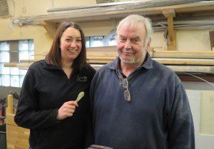 Bill and Helen (brandishing her freshly made spoon)