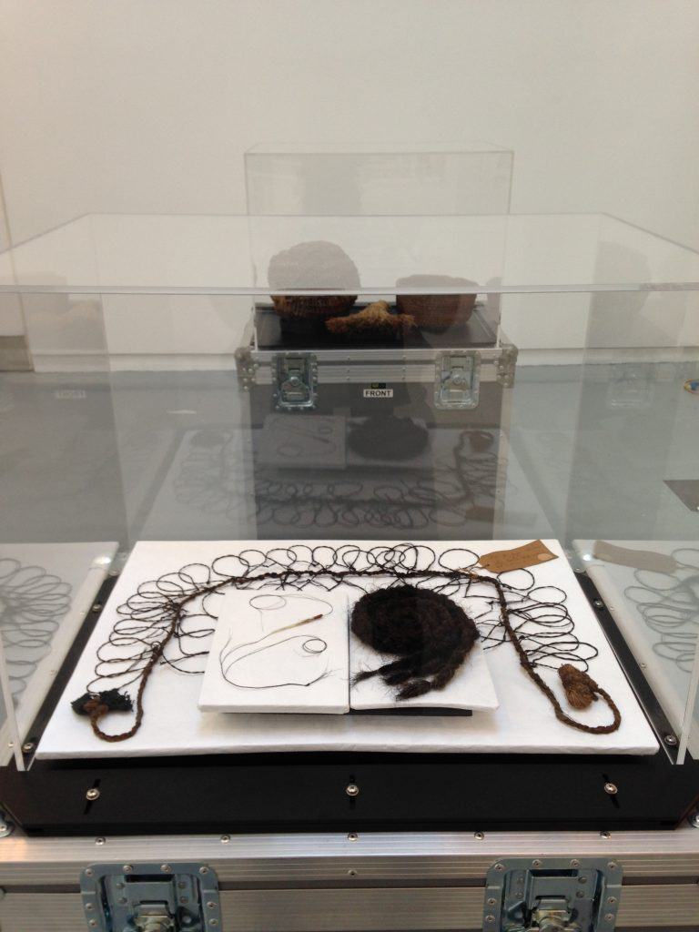 The snare on display at An Lanntair, for the Cuimhne/Memory exhibition