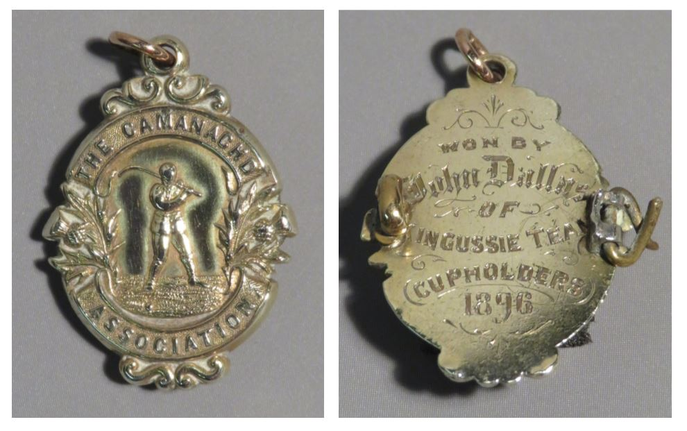 John Dallas's 1896 winners medal. Image credit: High Life Highland, Highland Folk Museum
