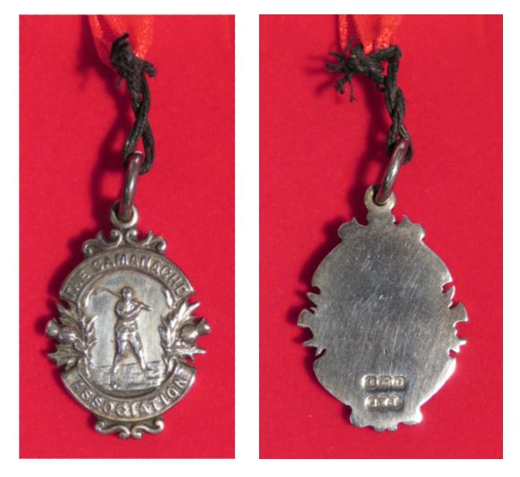 Runners-up medal, 1928, won by Boleskine Camanachd Club. Image credit: High Life Highland, Highland Folk Museum
