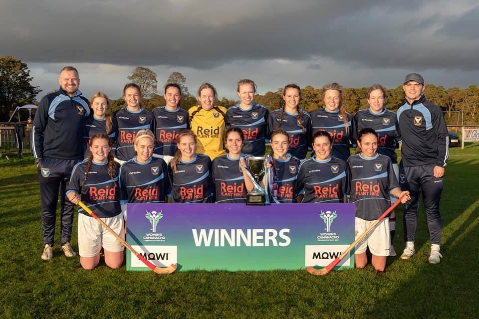Badenoch Ladies Shinty team, winners of the National Division One League in 2019. Badenoch Ladies were formally called Badenoch and Strathspey Ladies, until the team gained enough players that it made sense for them to split and have a team for each geographical area. This is a small example of how the game is growing. Image credit: Neil Paterson