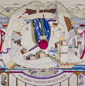 Great Tapestry of Scotland complete Panel Copyright Alex Hewitt 07789 871 540 Reproduction fees payable to Alex Hewitt