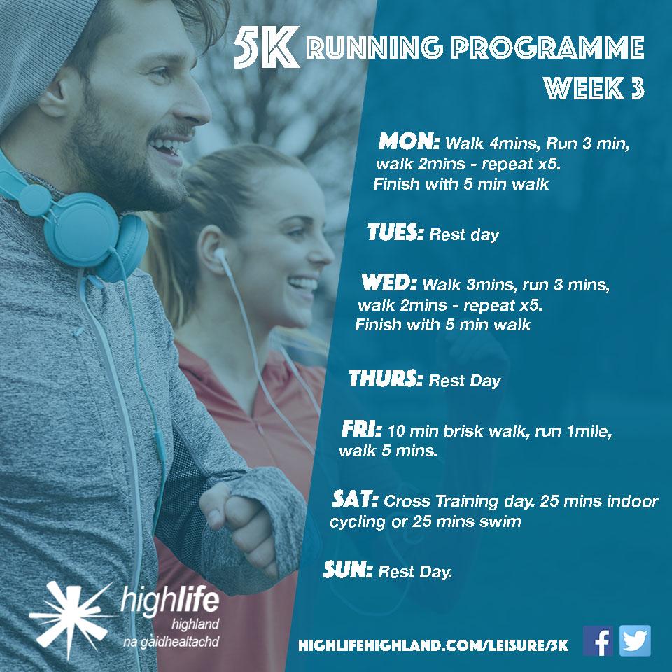 5k Training Programme - Leisure Facilities