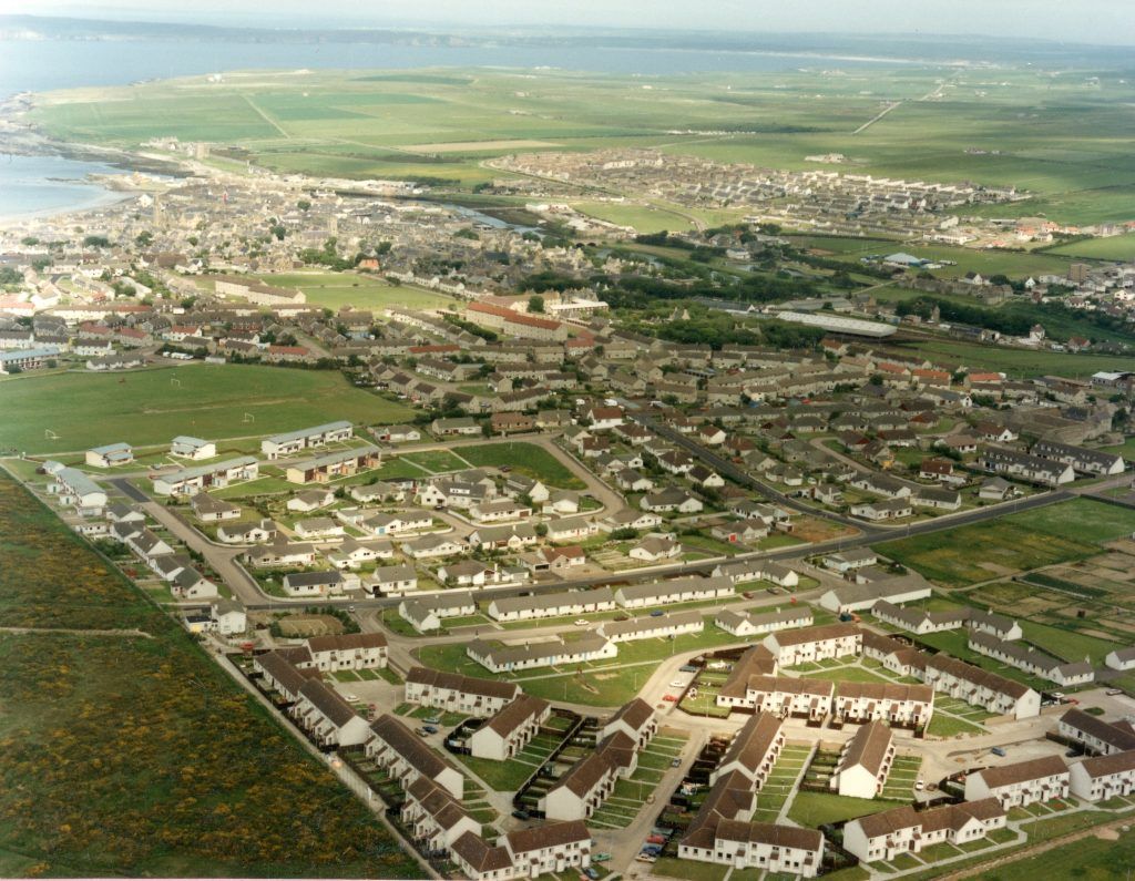Aerial view over Thurso