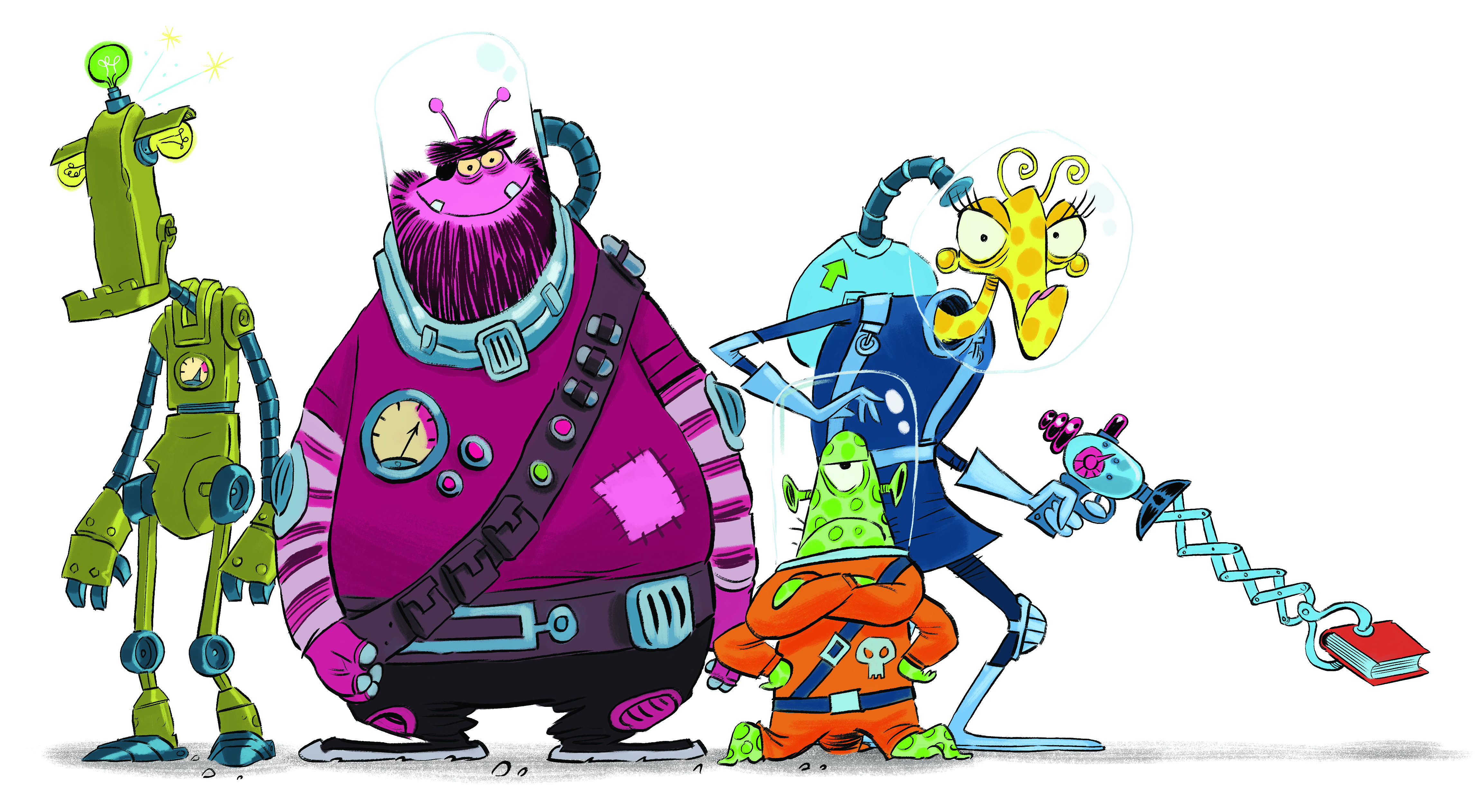 Space Chase characters