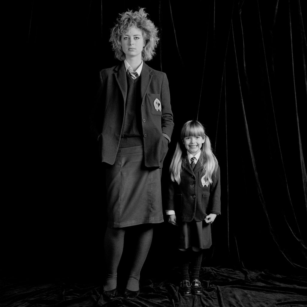 Sixth Form Girl / Primary One Girl. From the series, Pictures From No Man's Land: St Margaret's School for Girls, Edinburgh (1984).